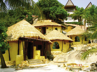 Kleiwerks  International helped build earthen housing  in Thailand in 2008.