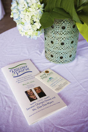 Attendees received a printed program and Sow True Seed packs commemorating the 10th anniversary of Power of the Purse.