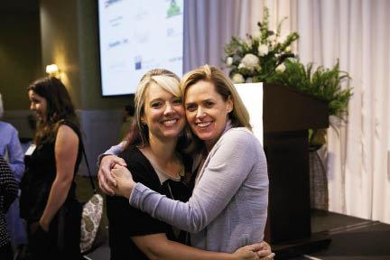Community Foundation Program Officer Tara Scholtz and President Elizabeth Brazas