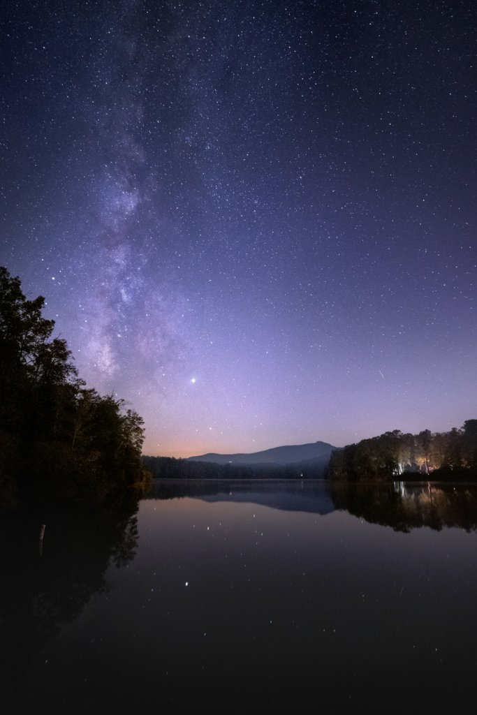 Milky Way over Price Lake