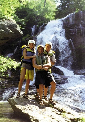 along Section IV, rafters make a stop at Long Creek Falls, which drops 50 feet.