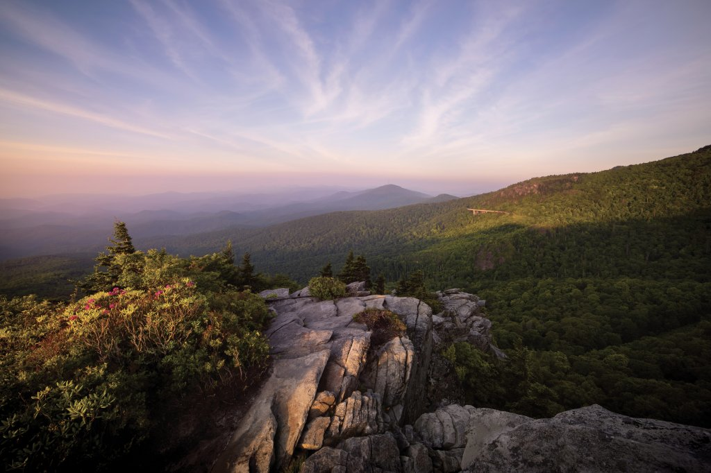 Spiritual Awakening  - The dawn of a new day breaks, as seen from Rough Ridge along the Blue Ridge Parkway.