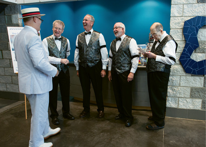 The A Cappella Fellas provided musical entertainment.