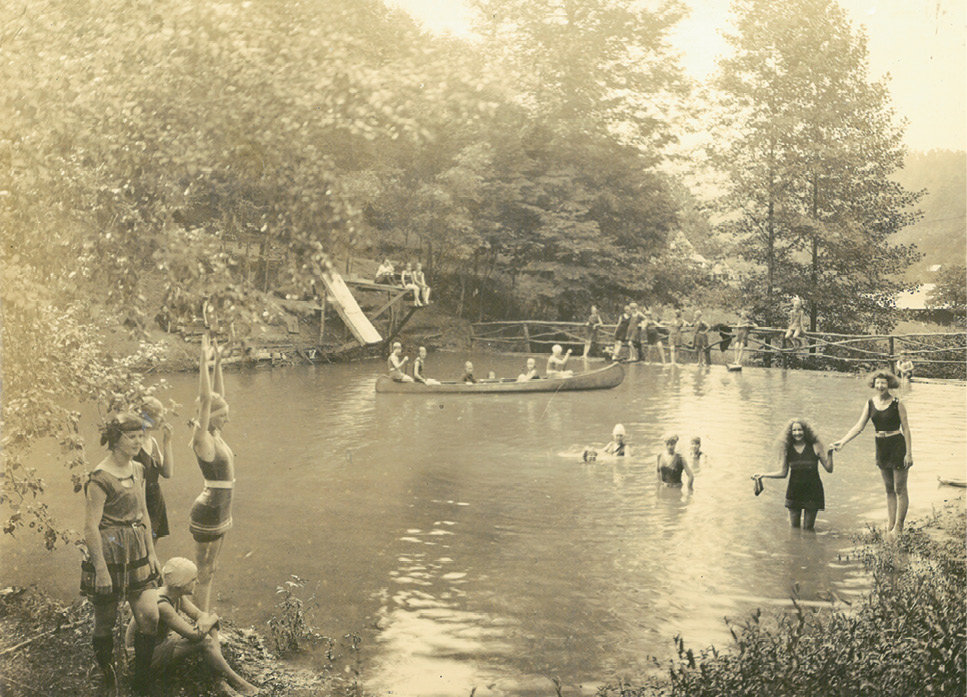Beat the Heat: During Keystone's early days, campers cooled down in the lake. In 1958 a second lake was built specifically for canoeing.