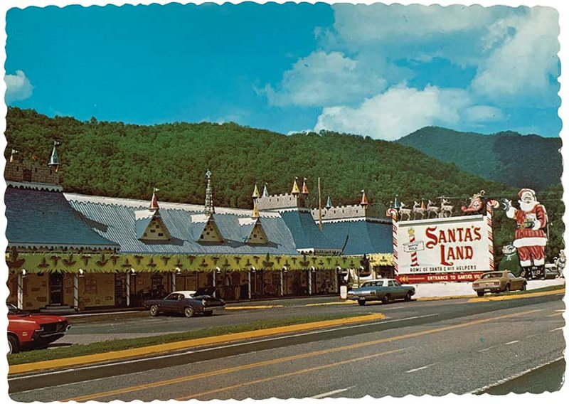 The entrance to Santa's Land as it appeared back in the 1960s, when it opened. Inside, a storybook village full of Christmas-worthy diversions awaits.