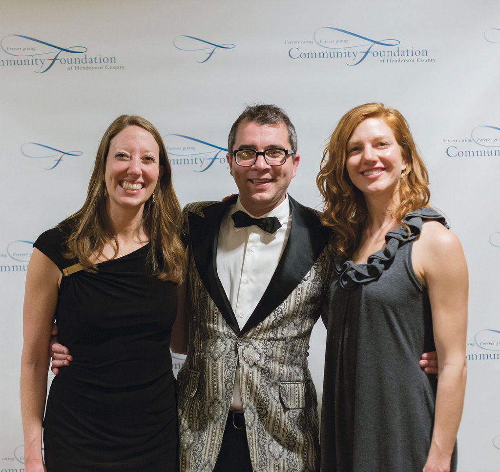 WNC magazine staffers Melissa Reardon,  Jon Elliston, and Katie Hild