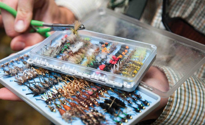 Anglers need not purchase every fly, but should come prepared with several top water (dry) and subsurface (nymph) specimens.