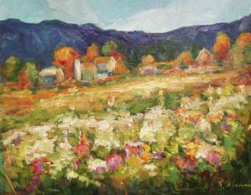 "Panorama of Color, 20"" x 24"", oil  by Joan Sporn"