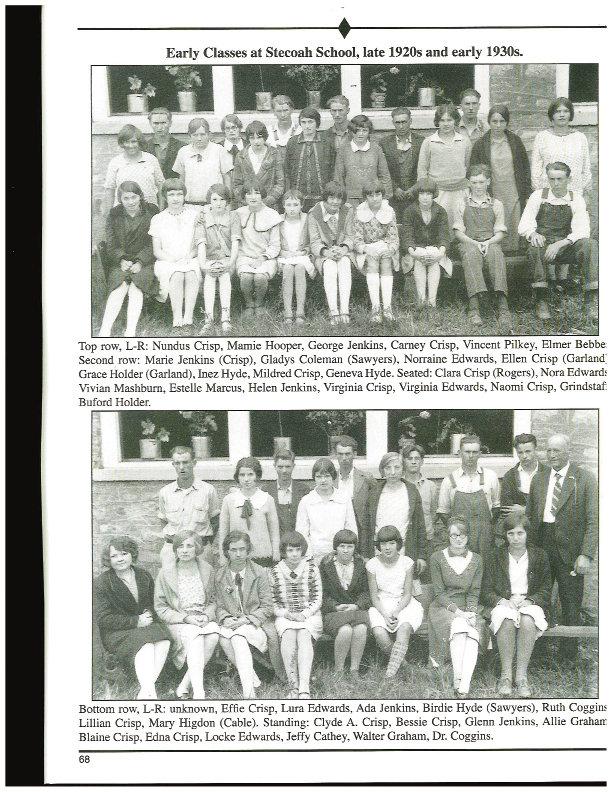 Stecoah Union School class circa 1930