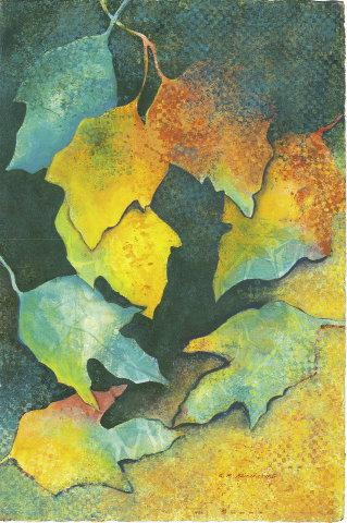 "Nature's Splendor,  22"" x 15"",  watercolor & acrylic  by Ellen Stinchcomb"