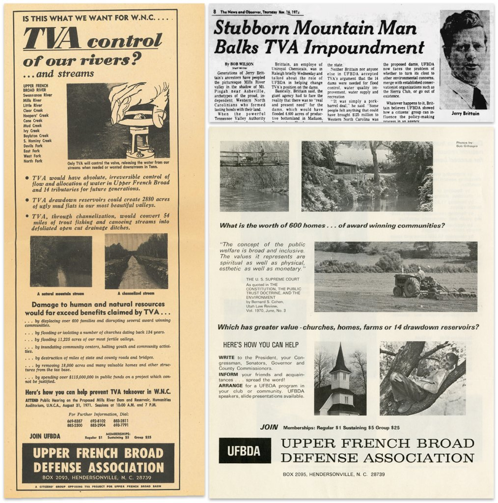 As the UFBDA found its message gaining traction in state newspapers, it spread the word itself through publicity operations including newspaper ads (far left) and mailers like the one shown here.