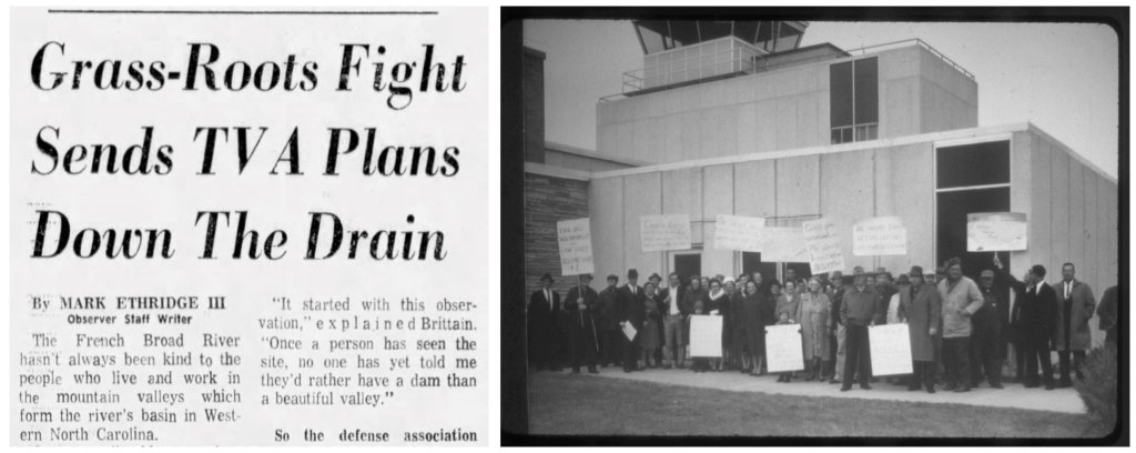 Newspaper headlines in November 1972 announced the defeat of the TVA's proposal. Six years earlier, local citizens had begun staging protests against the agency's plans to appropriate their lands for the project (while offering fair-market compensation).