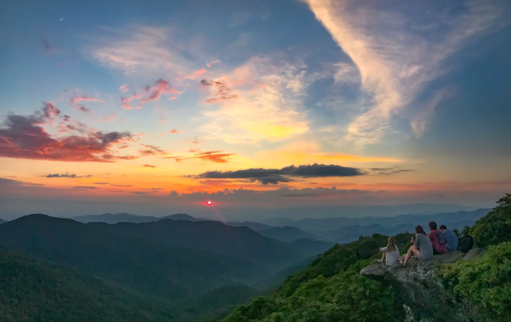 HONORABLE MENTION - SUNSET ON CRAGGY - Tana Black - The peak of Craggy Mountain along the Blue Ridge Parkway. Amateur category