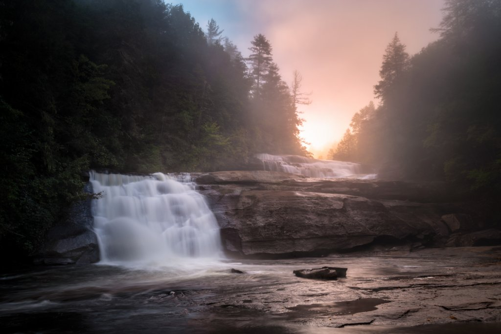 Triple Falls, DuPont State Forest near Brevard