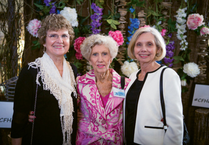 Nancy King, Mary Francis McAbee, and  Evelyn Davis