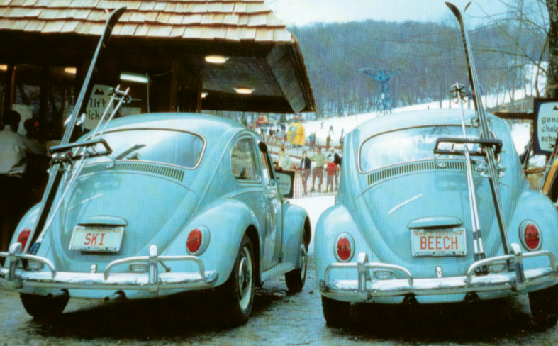 In the decades since Beech Mountain hosted twin VW Beetles, its roster of snow sports has grown to include snowboarding and tubing.