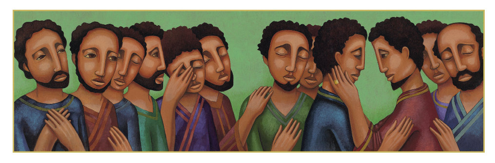 Inner Power: An illustration, titled Joseph and His Brothers, from the book With a Mighty Hand: The Story in the Torah.
