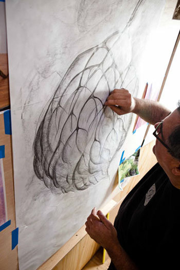 As with most artists, ideas begin at the drawing board.