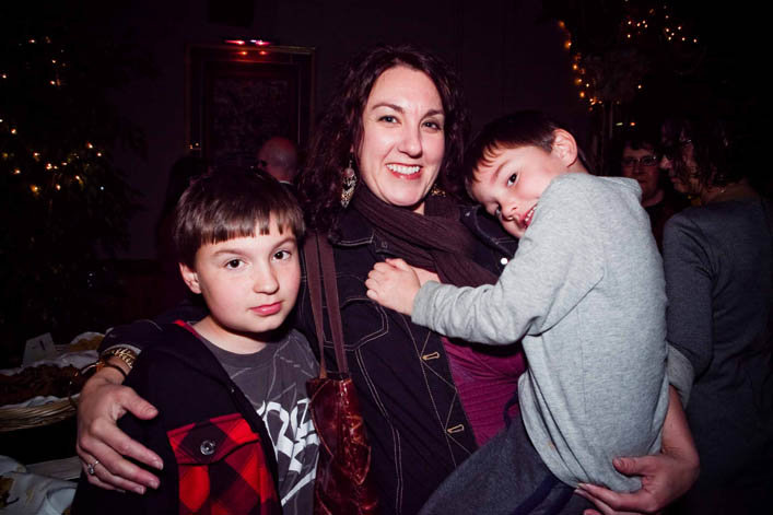 Lauri Nichols with Dylan and Max