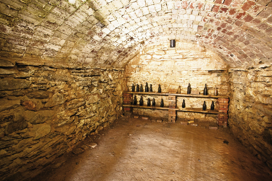 The wine cellar is a reminder of the home as well as the vineyards that once grew at Rhododendron.