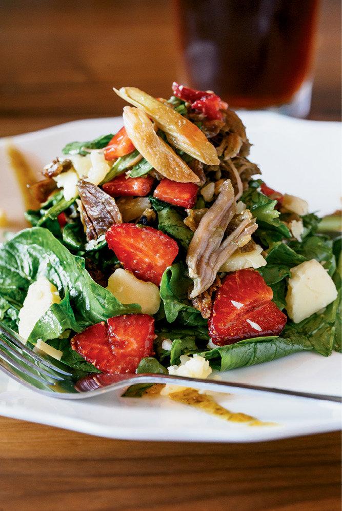 Duck confit salad