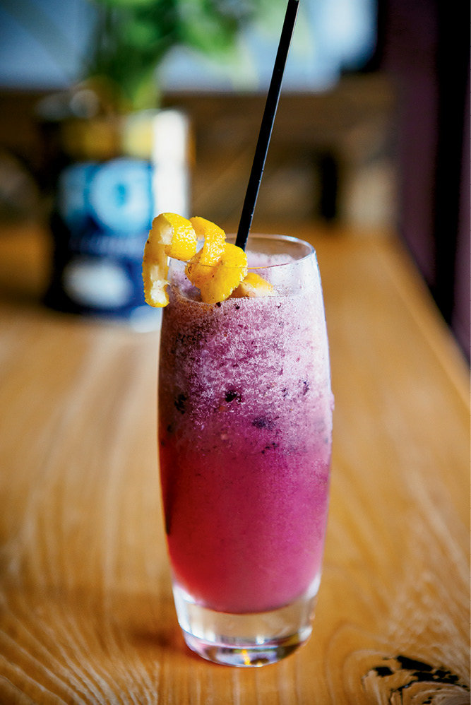 Berry-lavender lemonade slushy