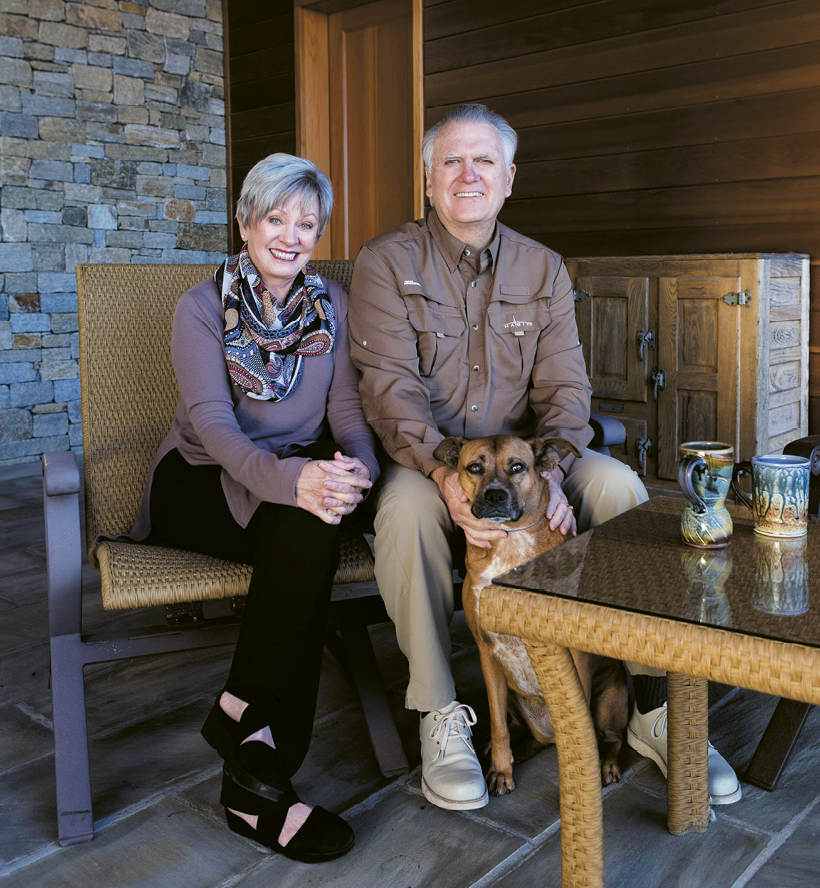 Sandra and Barry Bearden, pictured with pup Lindy.