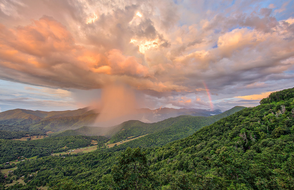 Honorable Mention: Evening Shower, Black Mountains by Jim Britt (Amateur category)
