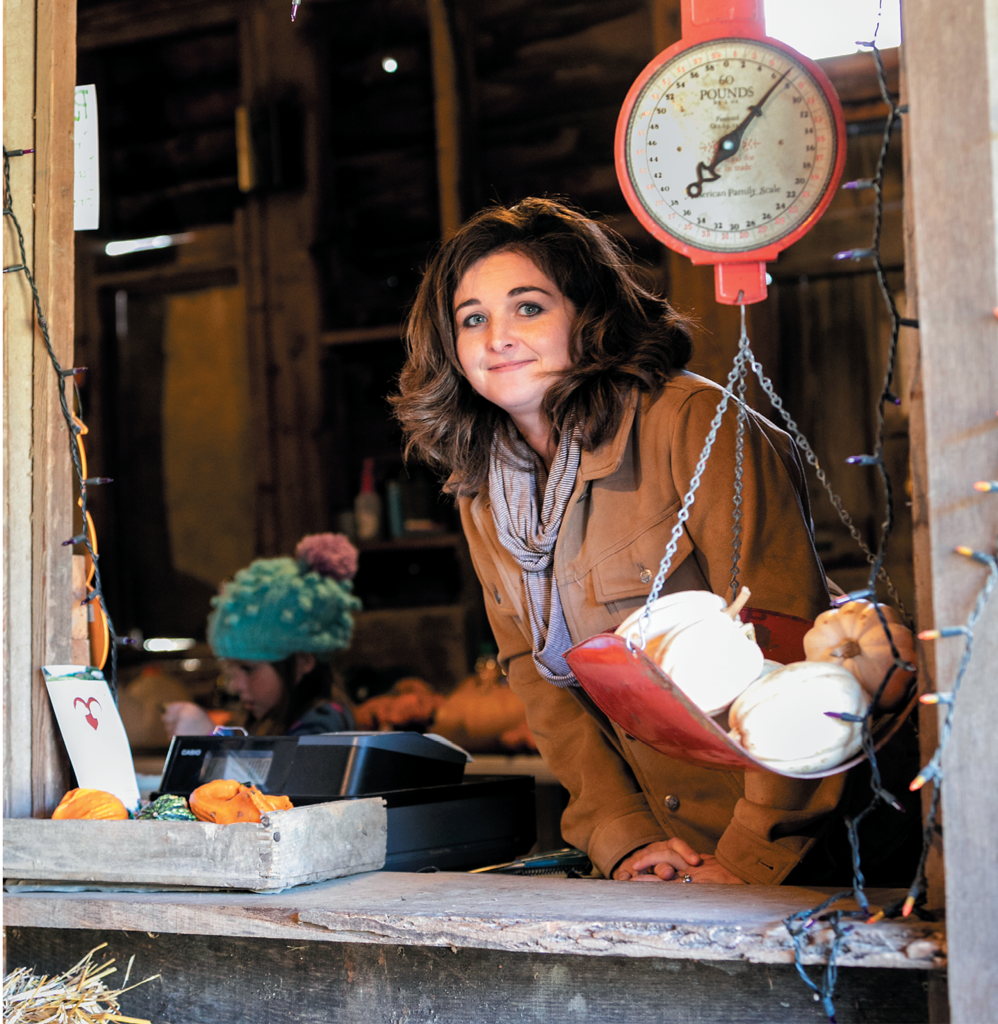 With help from family, Harvest Farm owner Cassandra Bare grows 40 varieties of pumpkins and invites visitors out each fall for one of the region's largest  u-pick experiences.