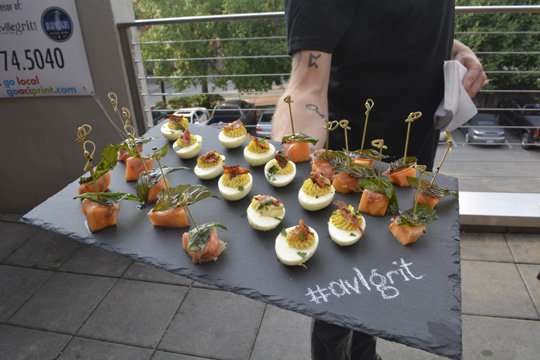 The Social Lounge hosted the party and provided lots of hors d'oeuvres.