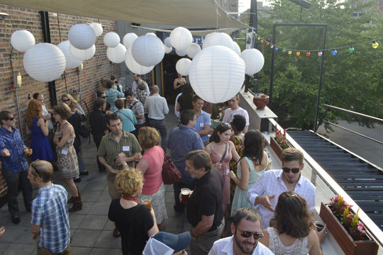 The Social Lounge hosted the party on its rooftop patio.