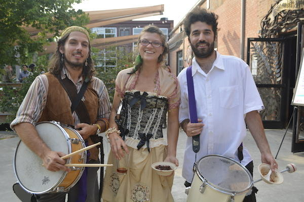 Pirate Bill, Jonlyn Linville, Franklin Keel of the band, and Sirius B.