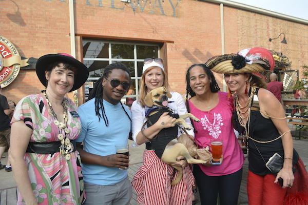 Jocelyn Reese, Chochie Bereng, Erica Bell, Zeedie the dog, and Katie Chizistie