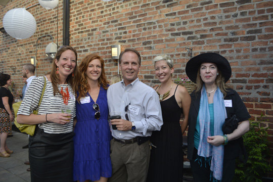 Melissa Reardon, Katie Hild, event sponsor Jeff Jones with Asheville Color & Imaging, Ayana Dusenberry, and Constance Richards