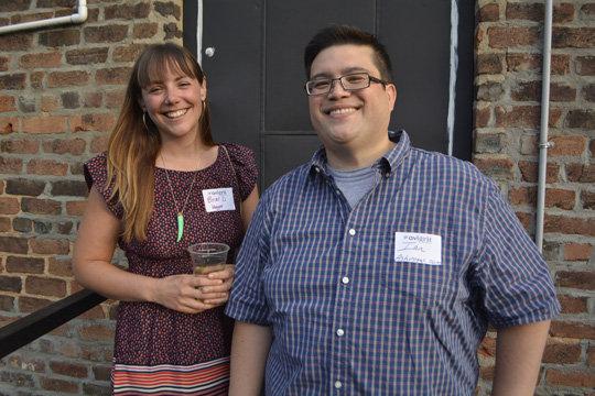 Blogger Briar DeHaven and Ian of Ashvegas