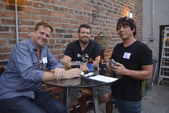 Doug Hecker, Josh Bailey, and Peter Slamp
