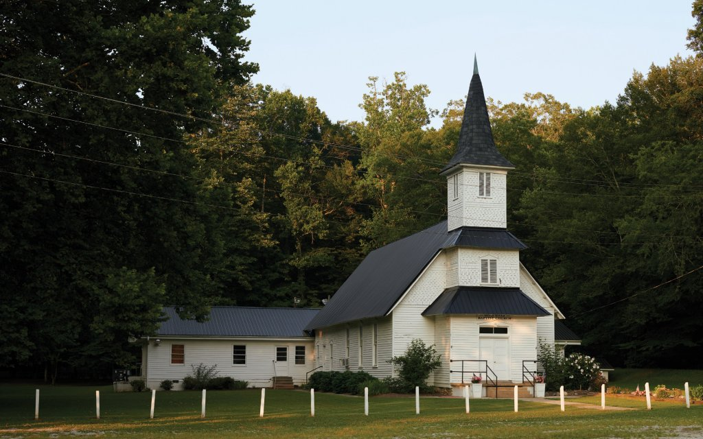 Mills River Baptist Church, built in 1902 and still a hive of worship and community, would have been fully submerged if the Mills River dam had been constructed.