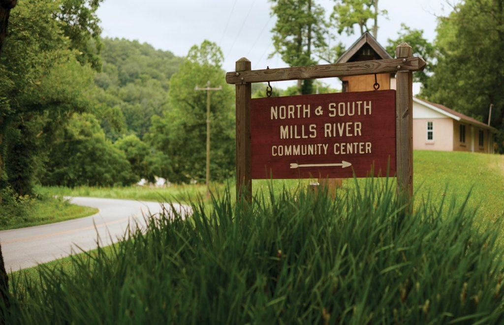 The North and South Mills River Community Center was the site of both anti-dam potlucks and a key showdown with a TVA official.