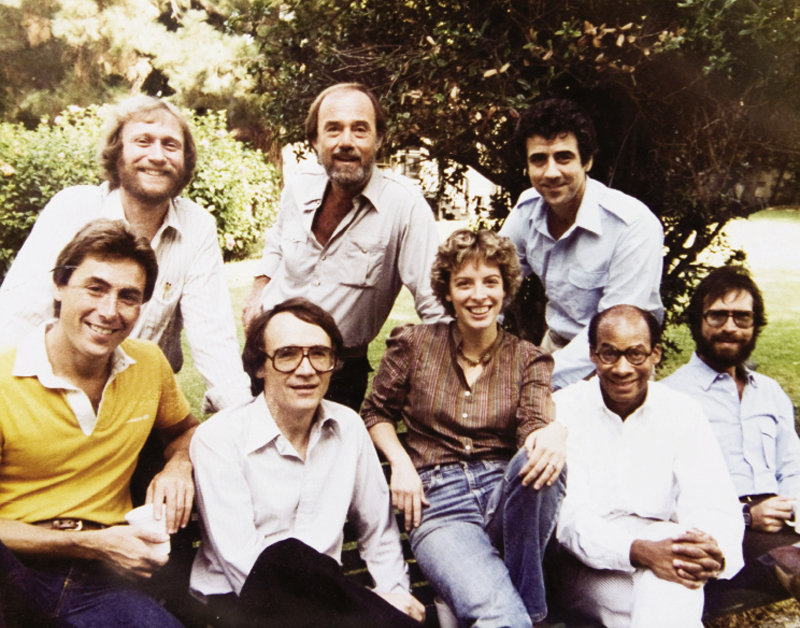 Hall and her writing colleagues on M*A*S*H* in 1981