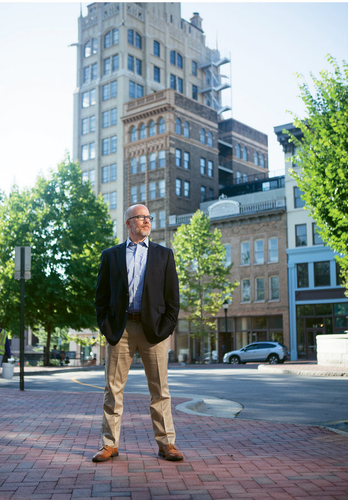 """""""We think Asheville is really well positioned to see the industry grow here. We have the talent, the academic and industry partnerships, and the federal investment.""""  —Clark Duncan, director of Asheville's Economic Development Coalition."""