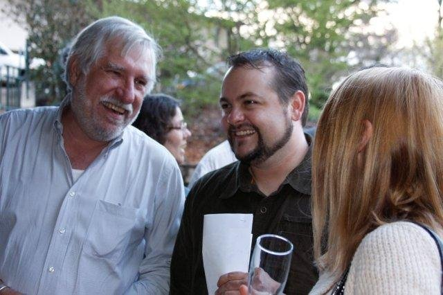 Asheville Wine & Food Festival organizer Bob Bowles greets dinner guests.