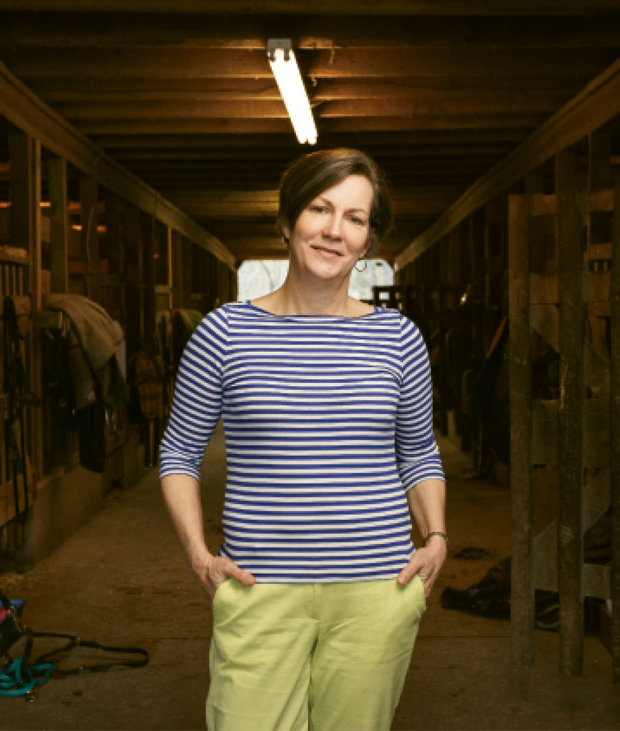 Legacy Leader: Fourth generation camp Director Page Lemel at the stables, where the equestrian program has been a popular mainstay.