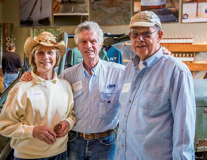 Sandra Foster with Foothills Conservancy board members Tom Foster and Gordon Scott