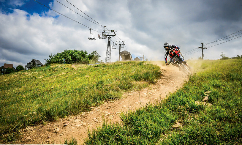 Mountain biking on Beech Mountain. Photo courtesy of Beech Mountain Resort