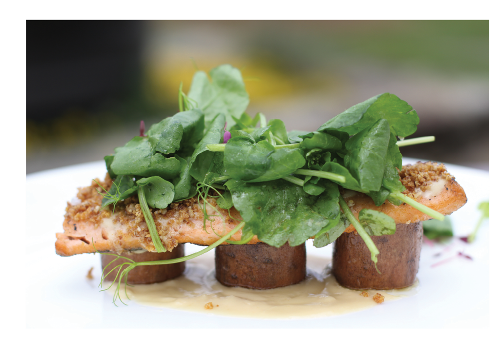Bon appétit: Local fine cuisine like this trout dish from Canyon Kitchen will be joined by visitors like Chopped champ Zeb Stevenson.