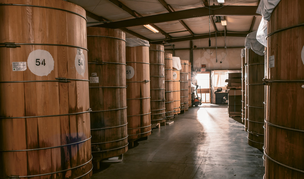American Miso ages its product in hand-crafted redwood or cedar barrels.