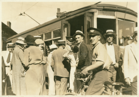 Scenes from Asheville's last trolley ride, on Labor Day, 1934