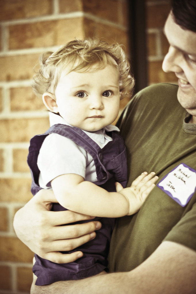 At 101/2 months, Alex McCullum is the youngest at the gathering.