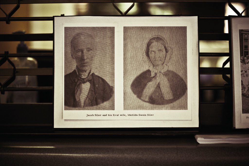 The descendants of Jacob Siler, shown with his first wife, Matilda Swain Siler, were reponsible for organizing the 160th reunion