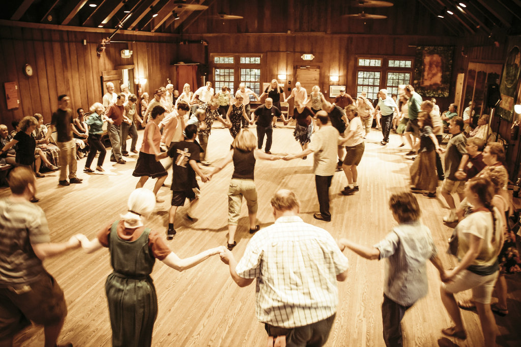 Music and dance are central to the experience, from the Morningsong gathering that begins each day to the spirited evenings of contra and square dancing in the Keith House Community Room.